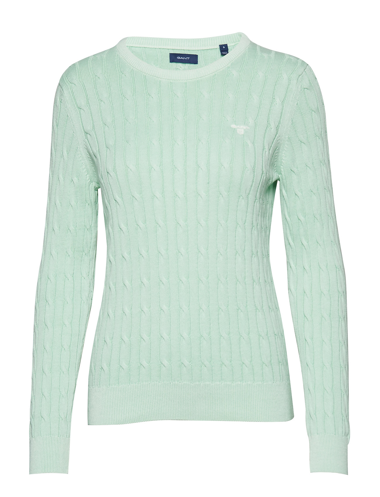 GANT O.1 SUN BLEACHED CABLE CREW - BAY GREEN