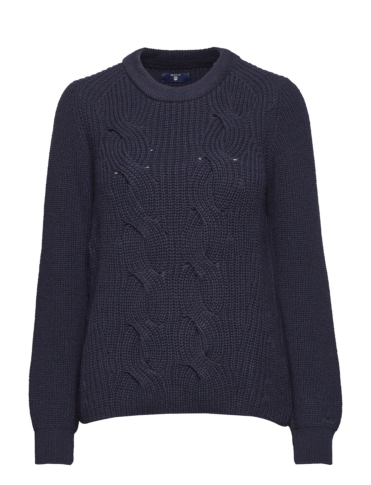 GANT O2. WOOL COTTON CABLE CREW