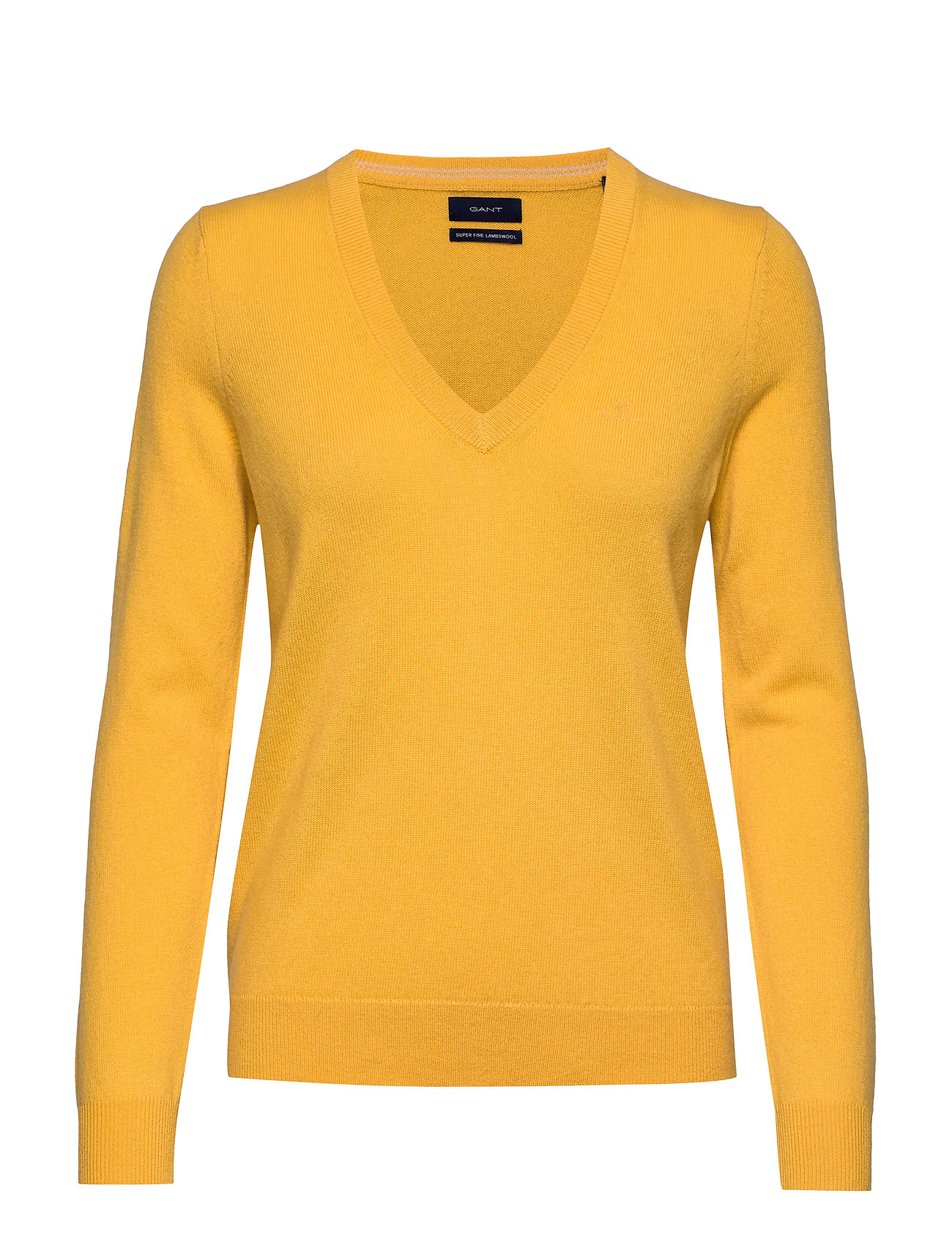 Gant SUPERFINE LAMBSWOOL V-NECK - IVY GOLD