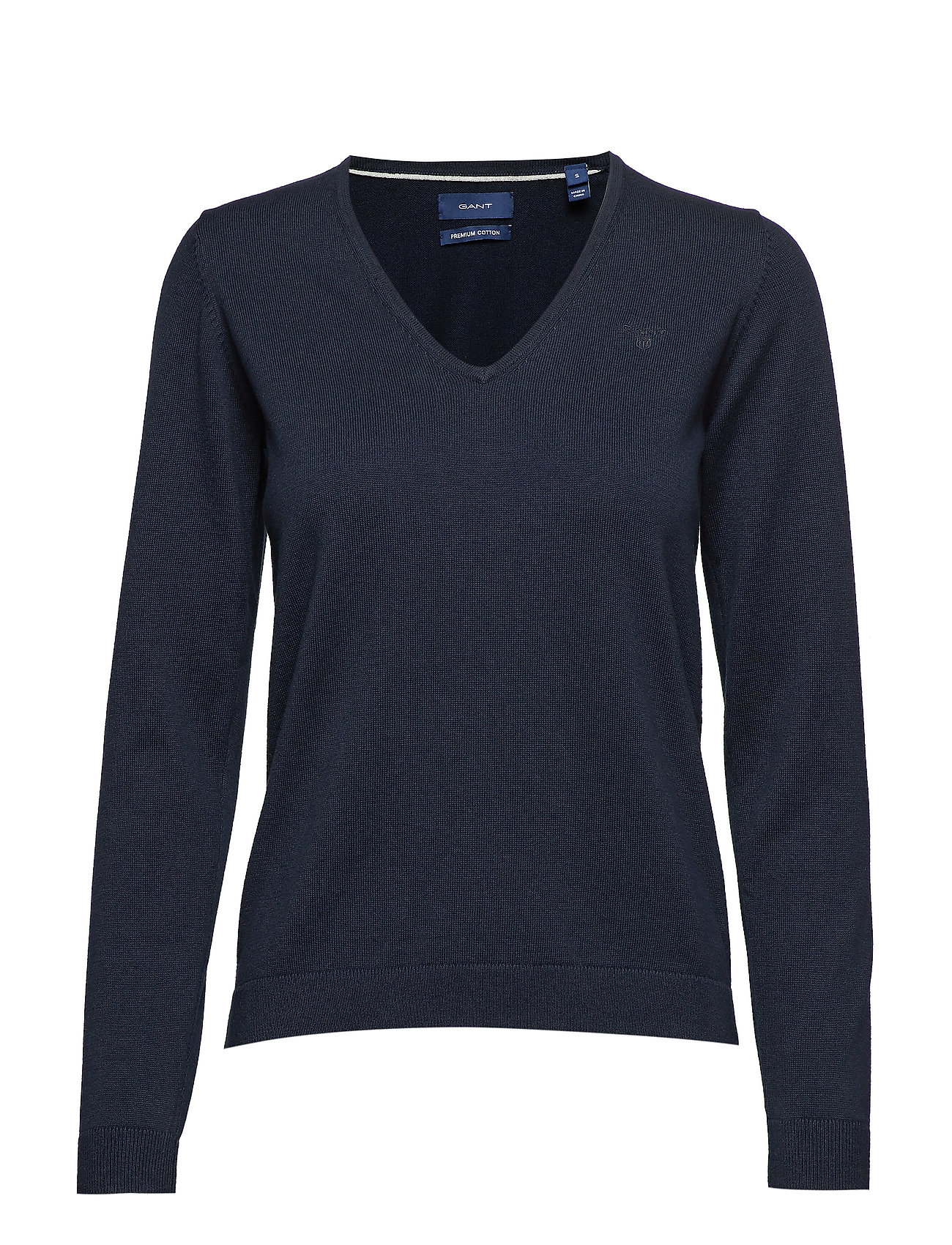 GANT LT WT COTTON V-NECK