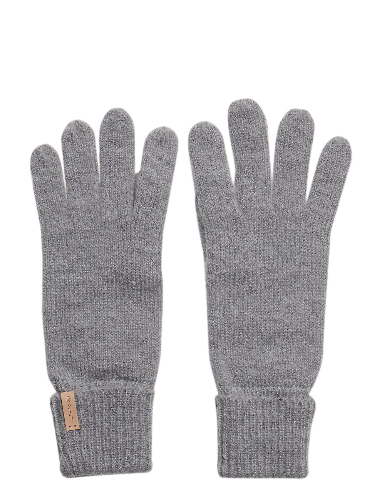 Image of O1. Knitted Gloves Handsker Grå GANT (3105944067)