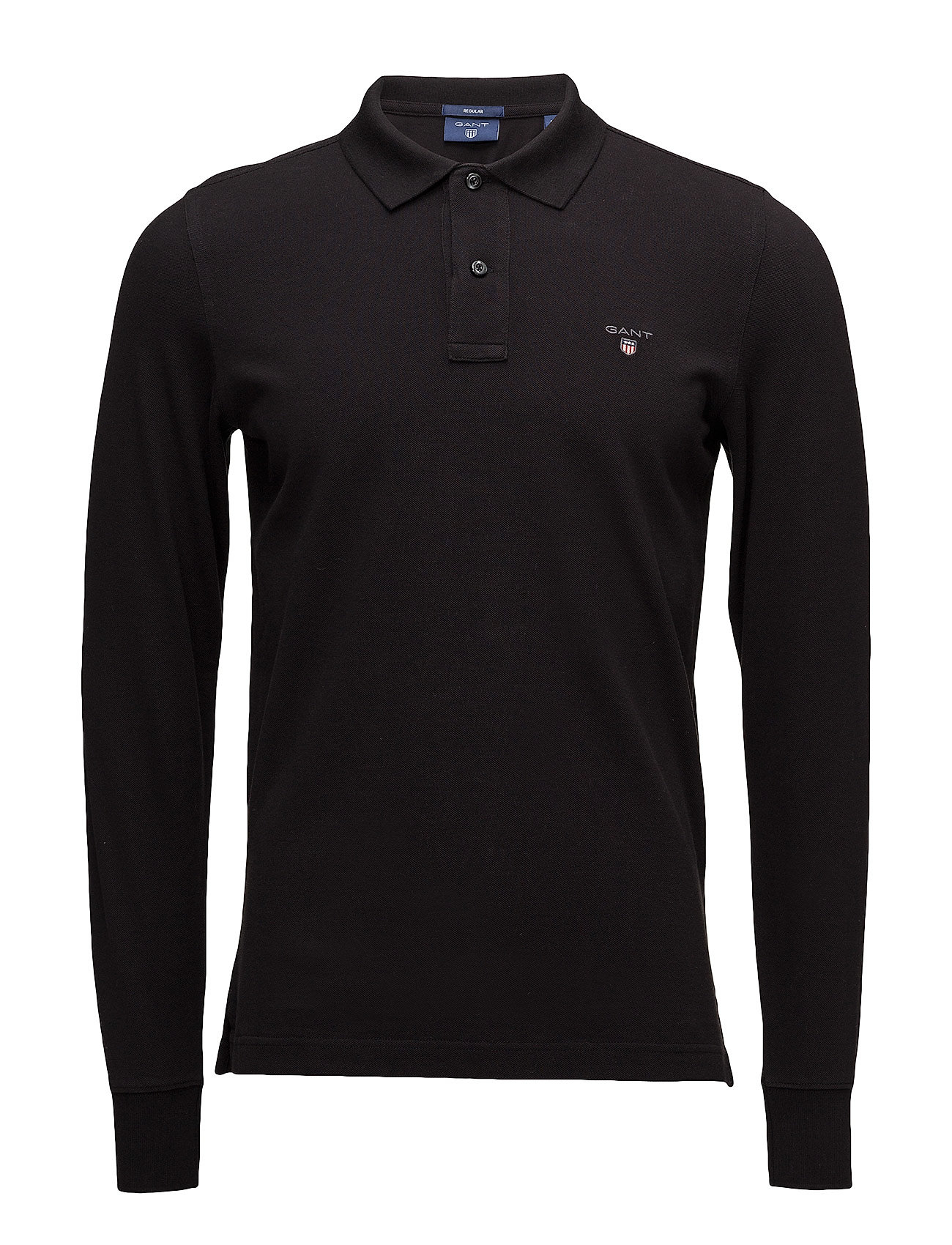 Gant THE ORIGINAL PIQUE  LS RUGGER - BLACK