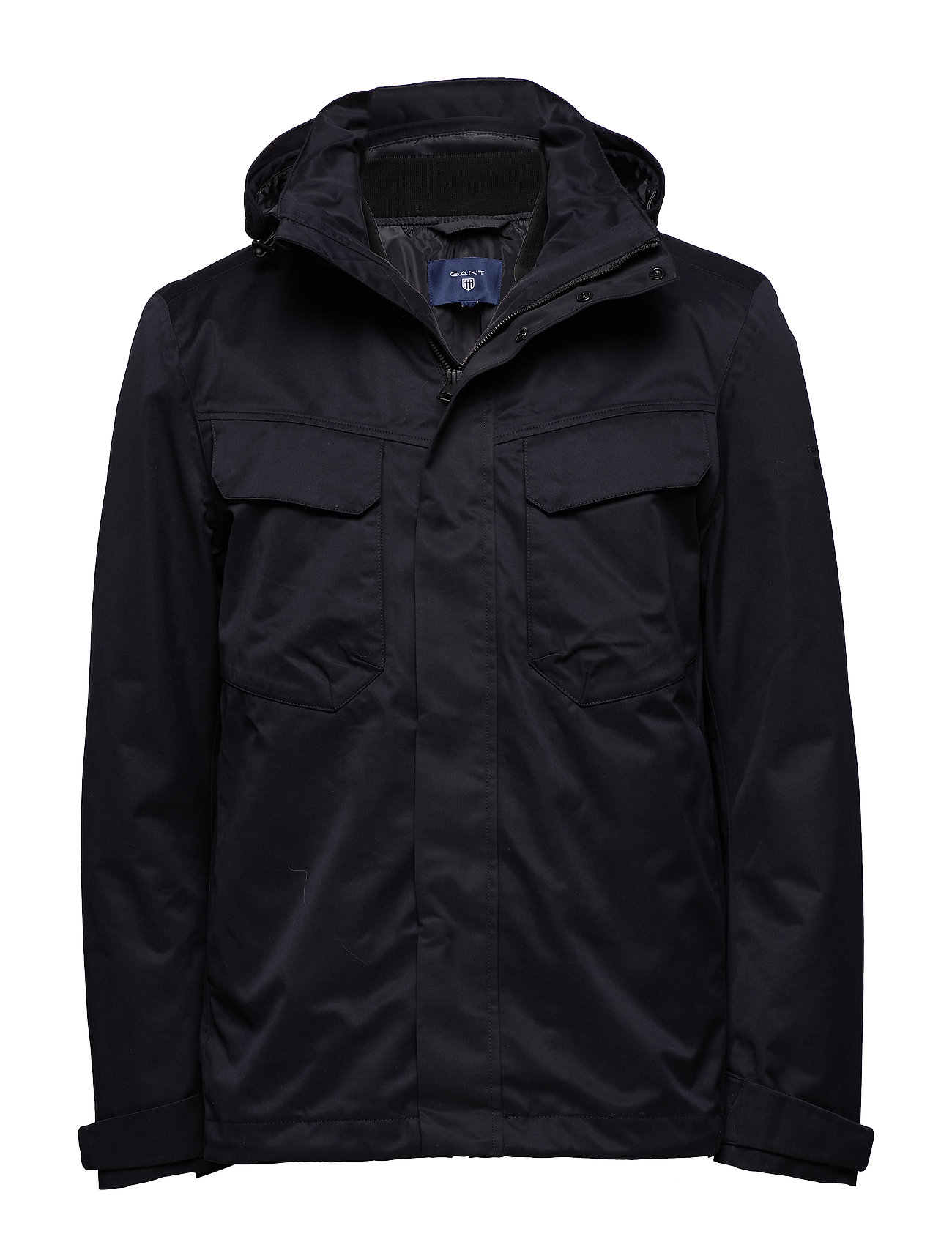 Gant O2. THE TECH DOUBLE JACKET - BLACK