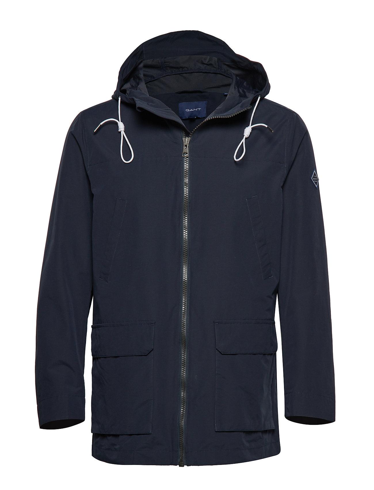 GANT O1. The Hooded Wave Jacket Parka Jacke Blau GANT