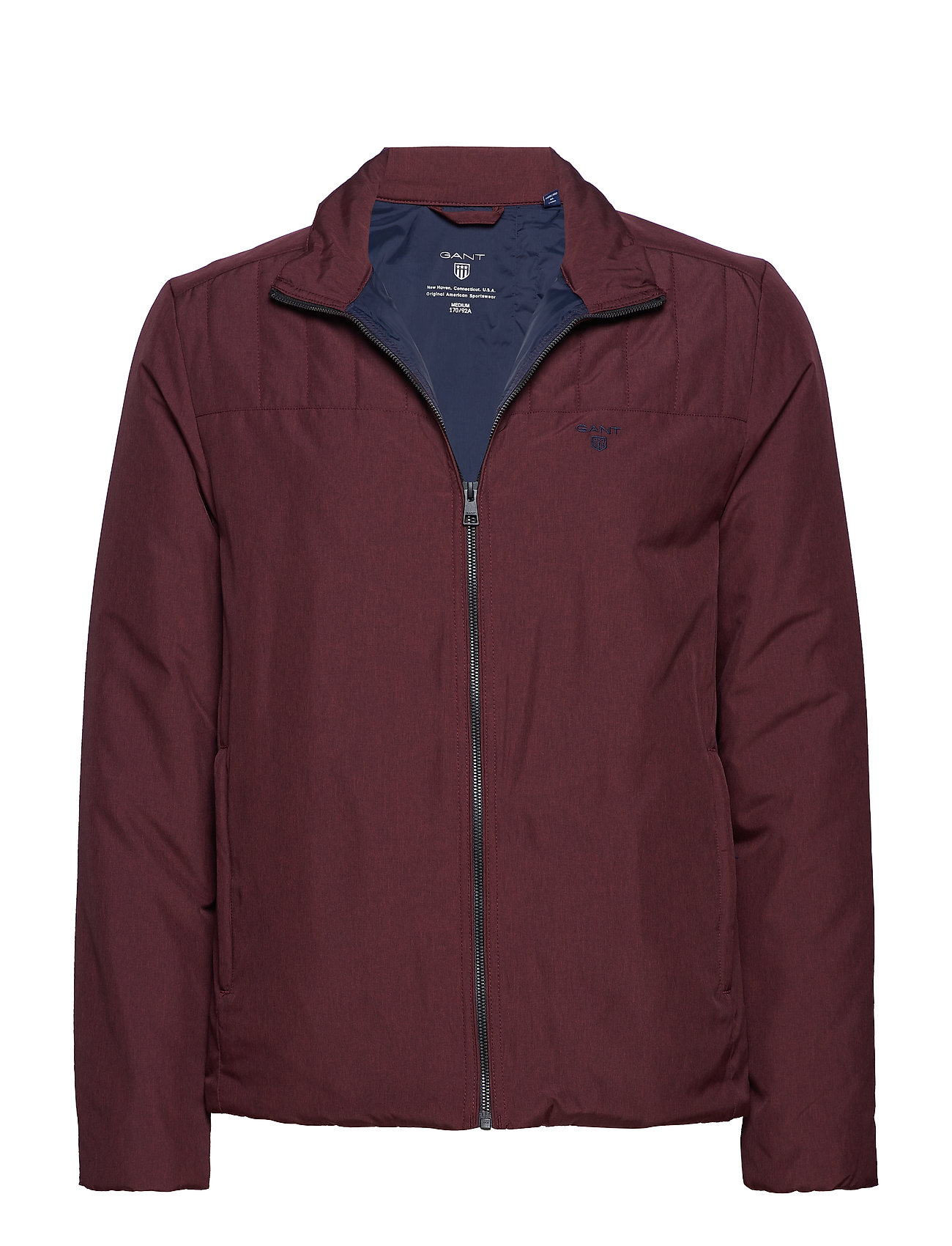 Gant O2. THE PADDED JACKET - MAHOGNY RED