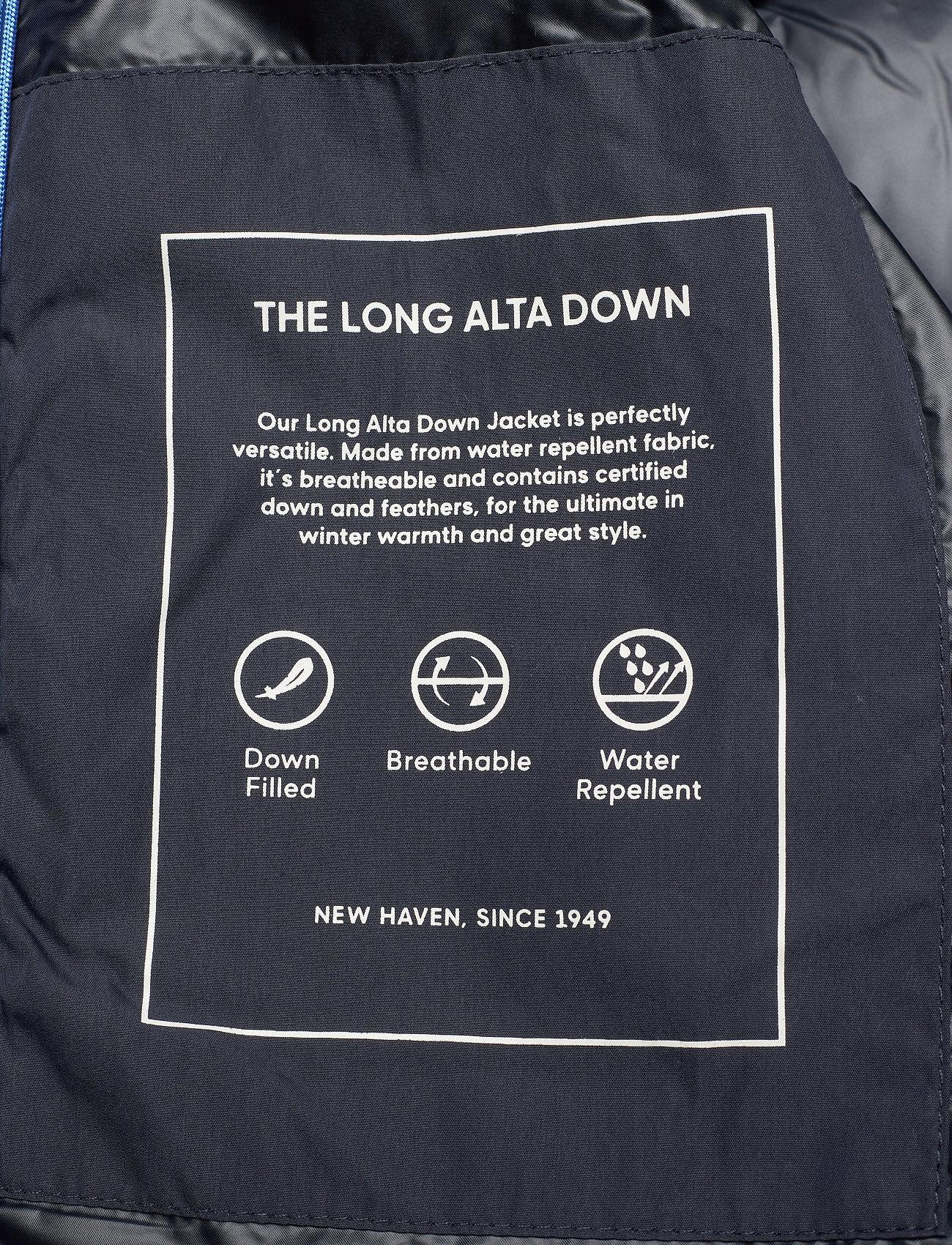 GANT D2. THE LONG ALTA DOWN JACKET - Jakker og frakker EVENING BLUE - Menn Klær