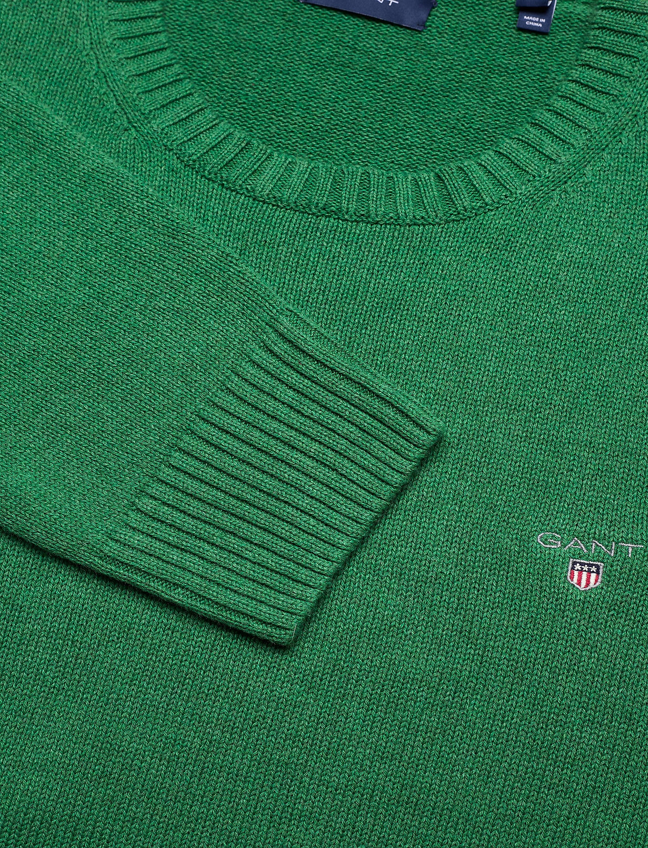 GANT CASUAL COTTON CREW - Strikkevarer KELLY GREEN MEL - Menn Klær