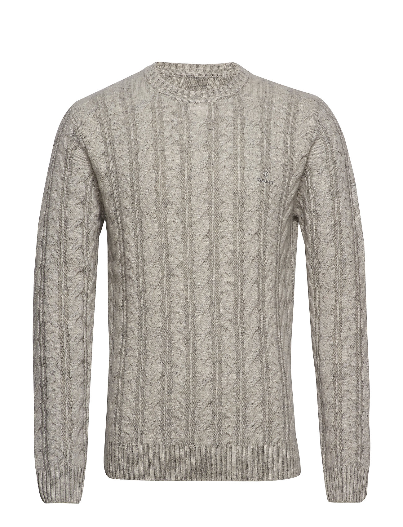 Gant D2. WINTER FADED CABLE CREW - GREY MELANGE