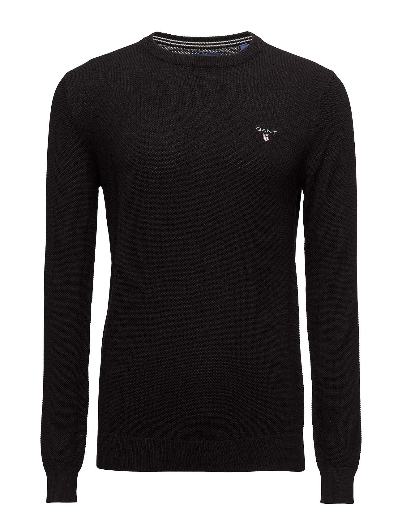 GANT COTTON PIQUE CREW - BLACK
