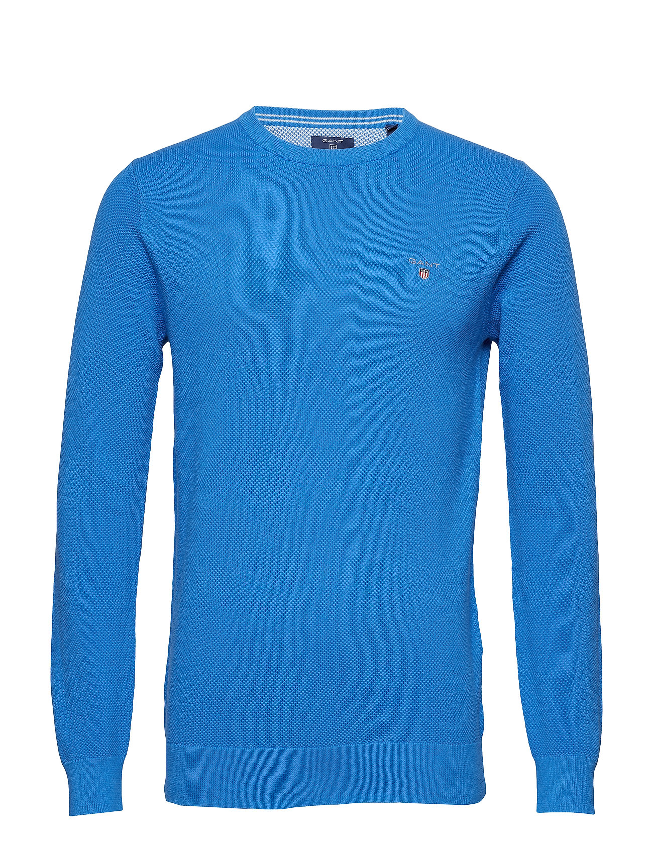 GANT COTTON PIQUE CREW - PALACE BLUE