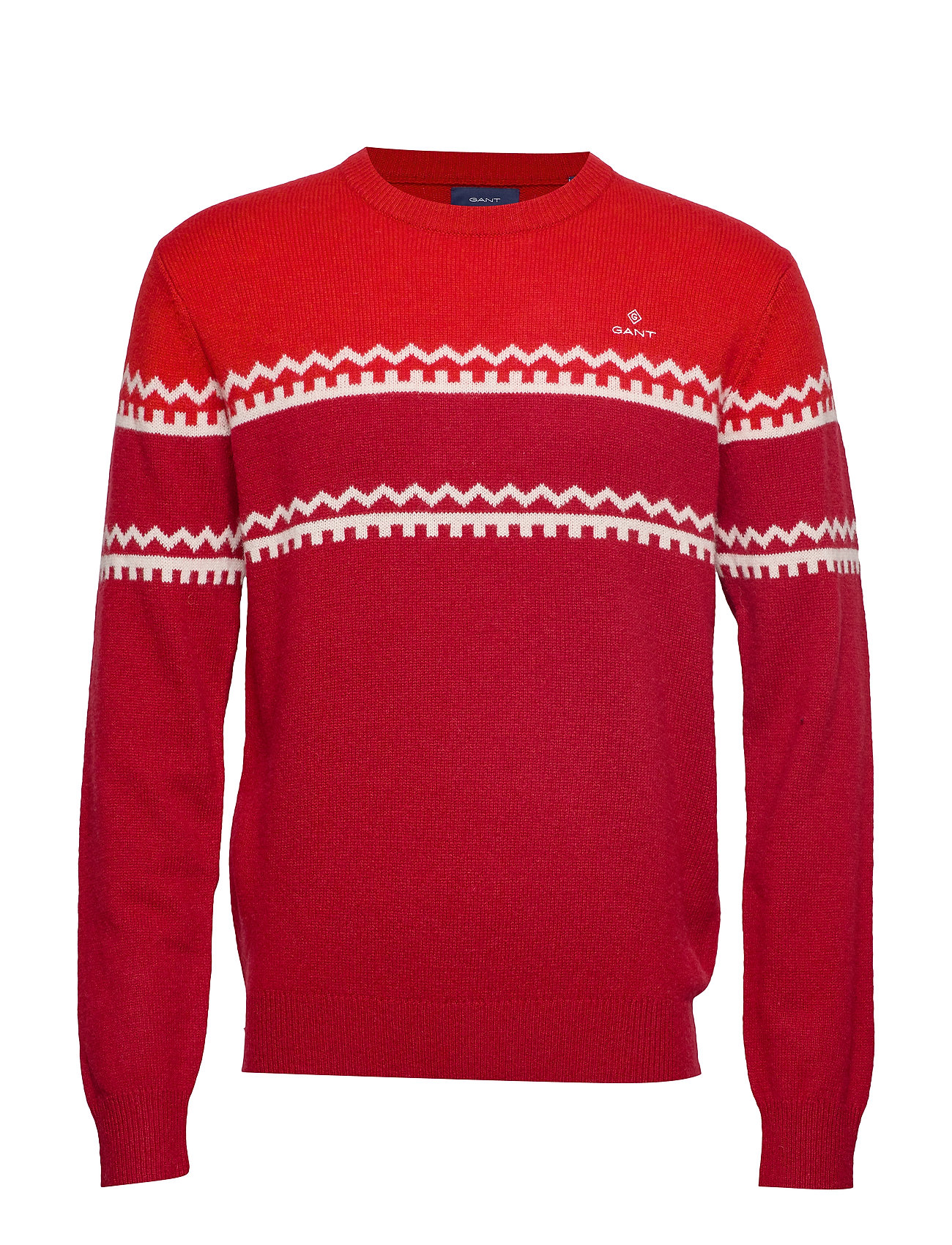 Gant D2. HOLIDAY STRIPE CREW - MAHOGNY RED