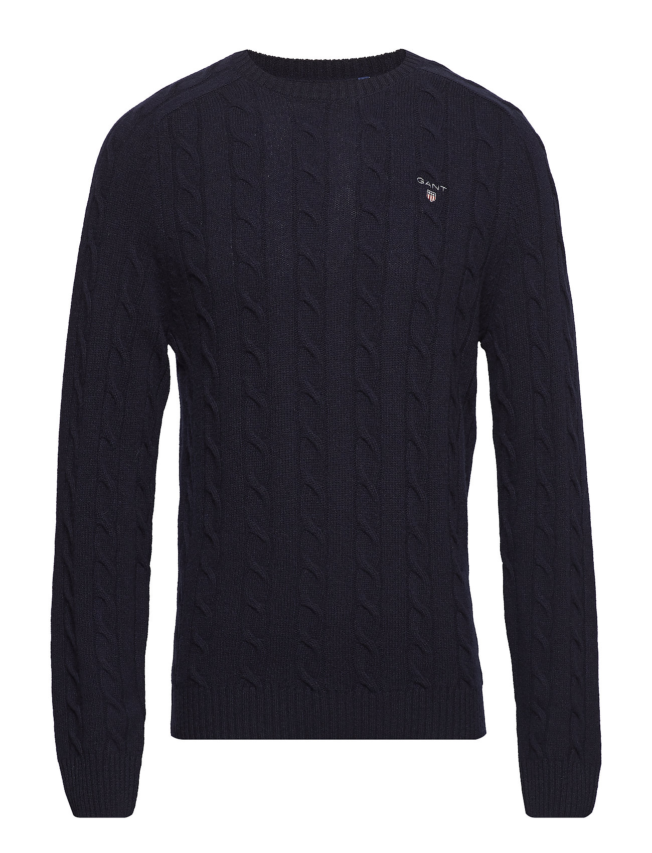 Gant O3. LAMBSWOOL CABLE CREW - MARINE