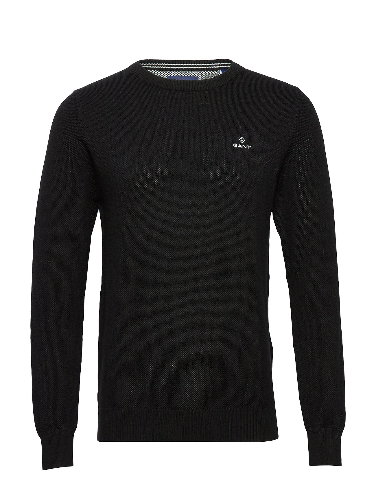Gant COTTON PIQUE C-NECK - BLACK