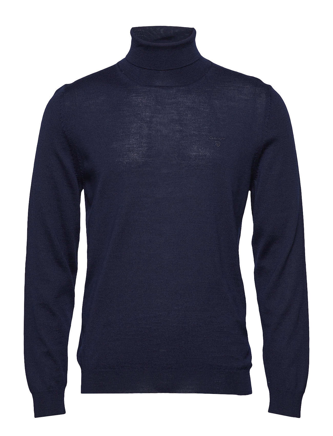 Gant FINE MERINO TURTLE NECK - EVENING BLUE