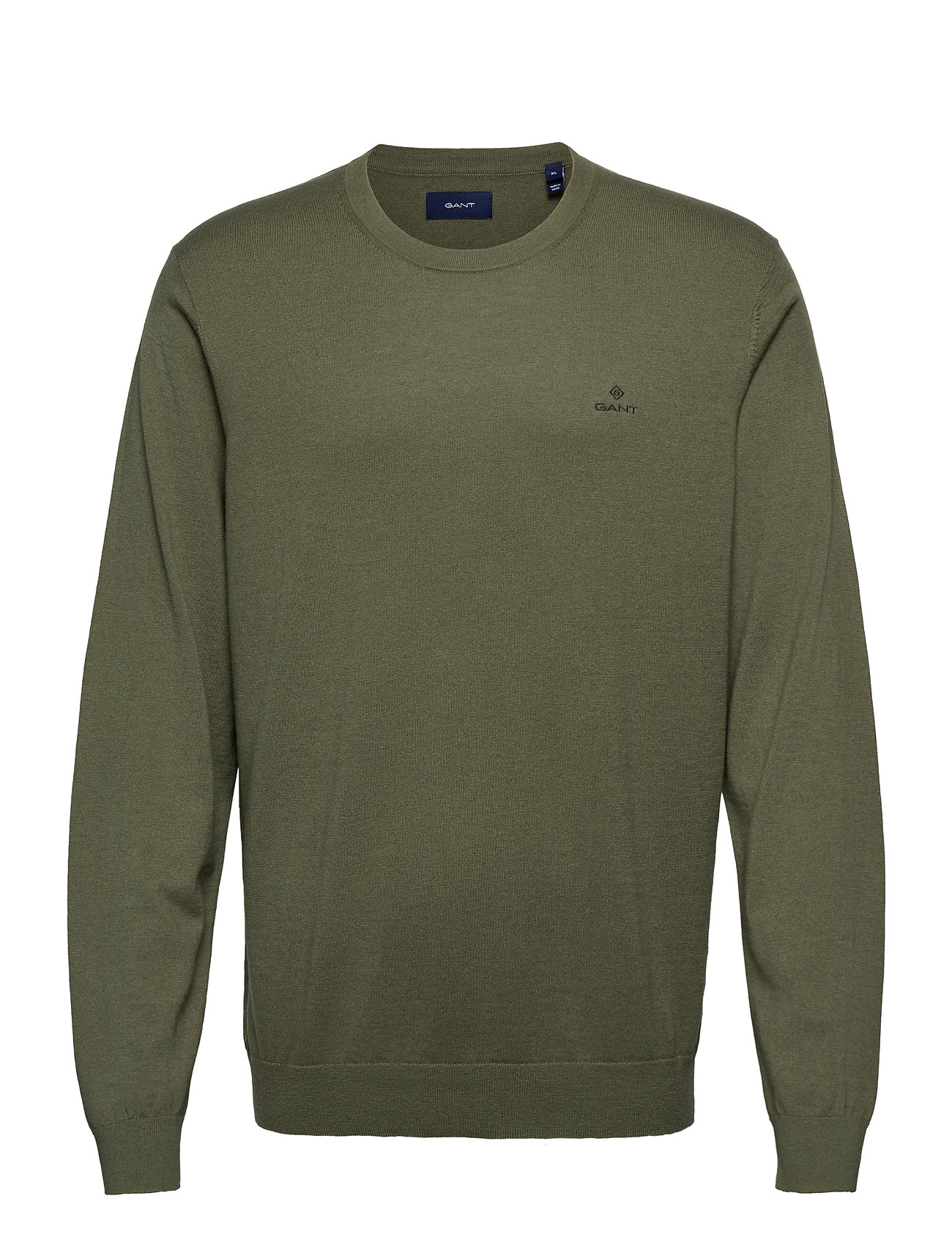 GANT D1. COTTON CASHMERE C-NECK - FOUR LEAF CLOVER