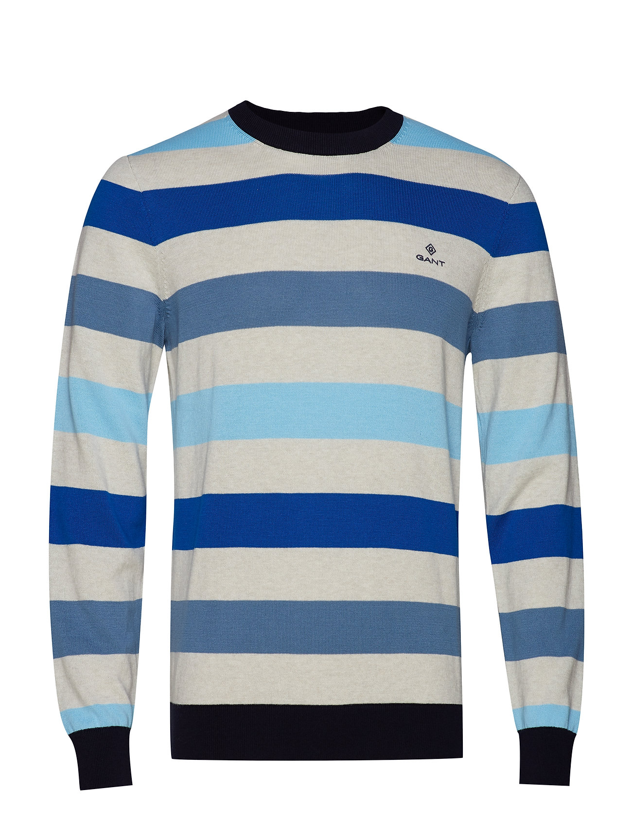 Gant D1. MULTI COLORED STRIPE CREW - CORONET BLUE