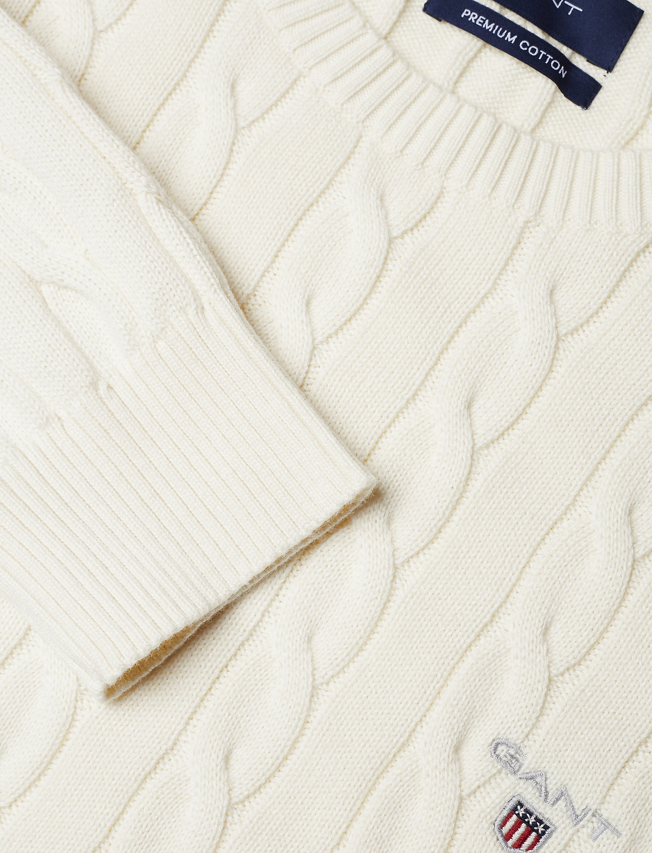 Cotton Cable Crew (Cream) (97.49 €) - GANT IqKNY