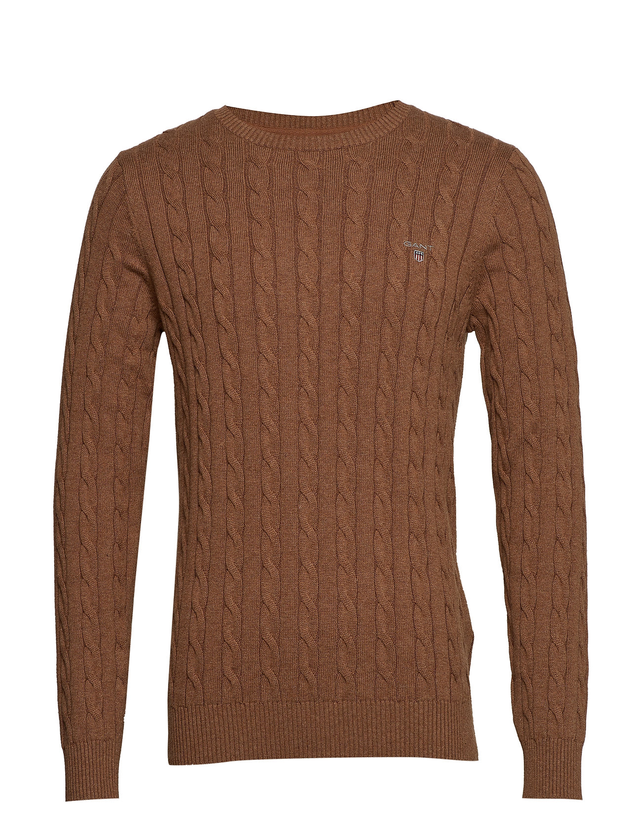 Gant COTTON CABLE CREW - HAZELNUT MELANGE