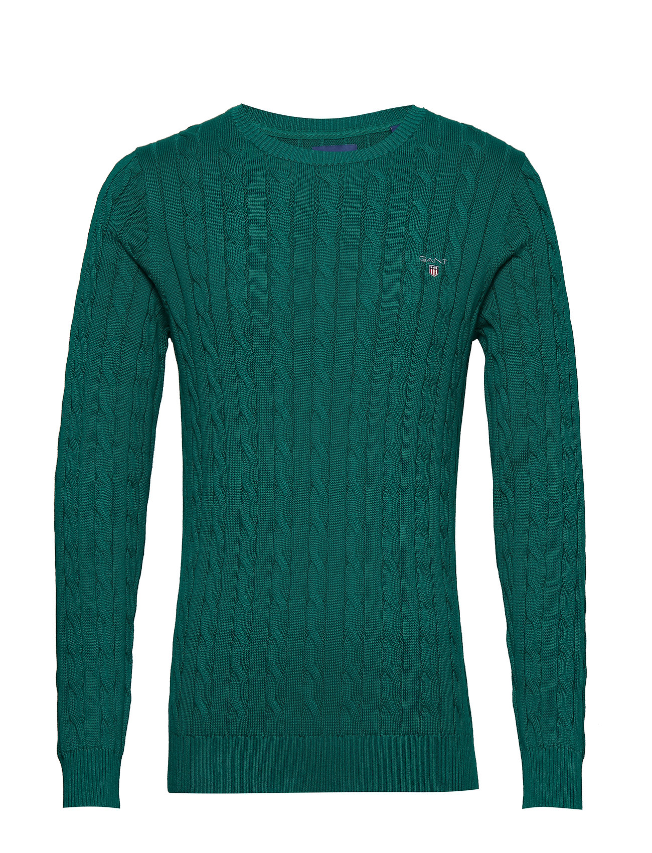 GANT COTTON CABLE CREW - IVY GREEN