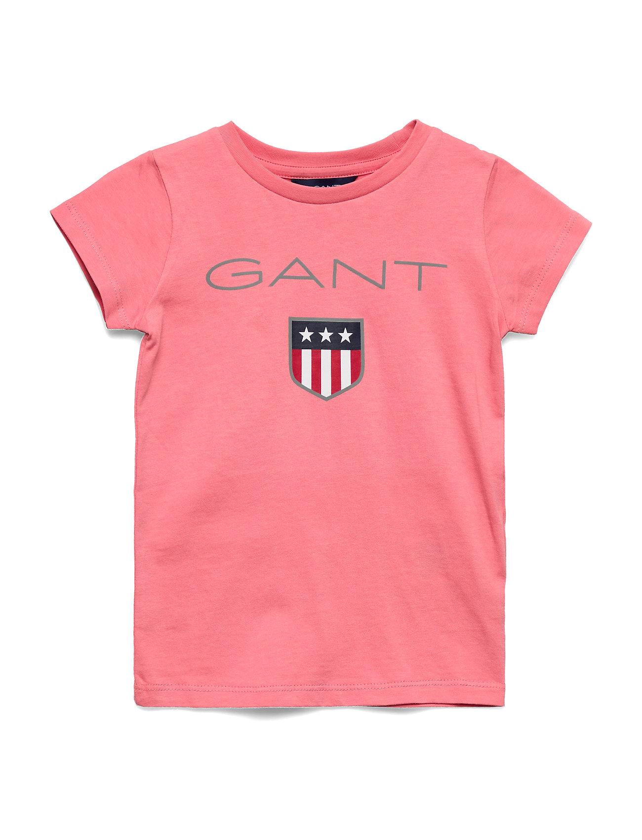 Gant GANT SHIELD LOGO SS T-SHIRT - STRAWBERRY PINK