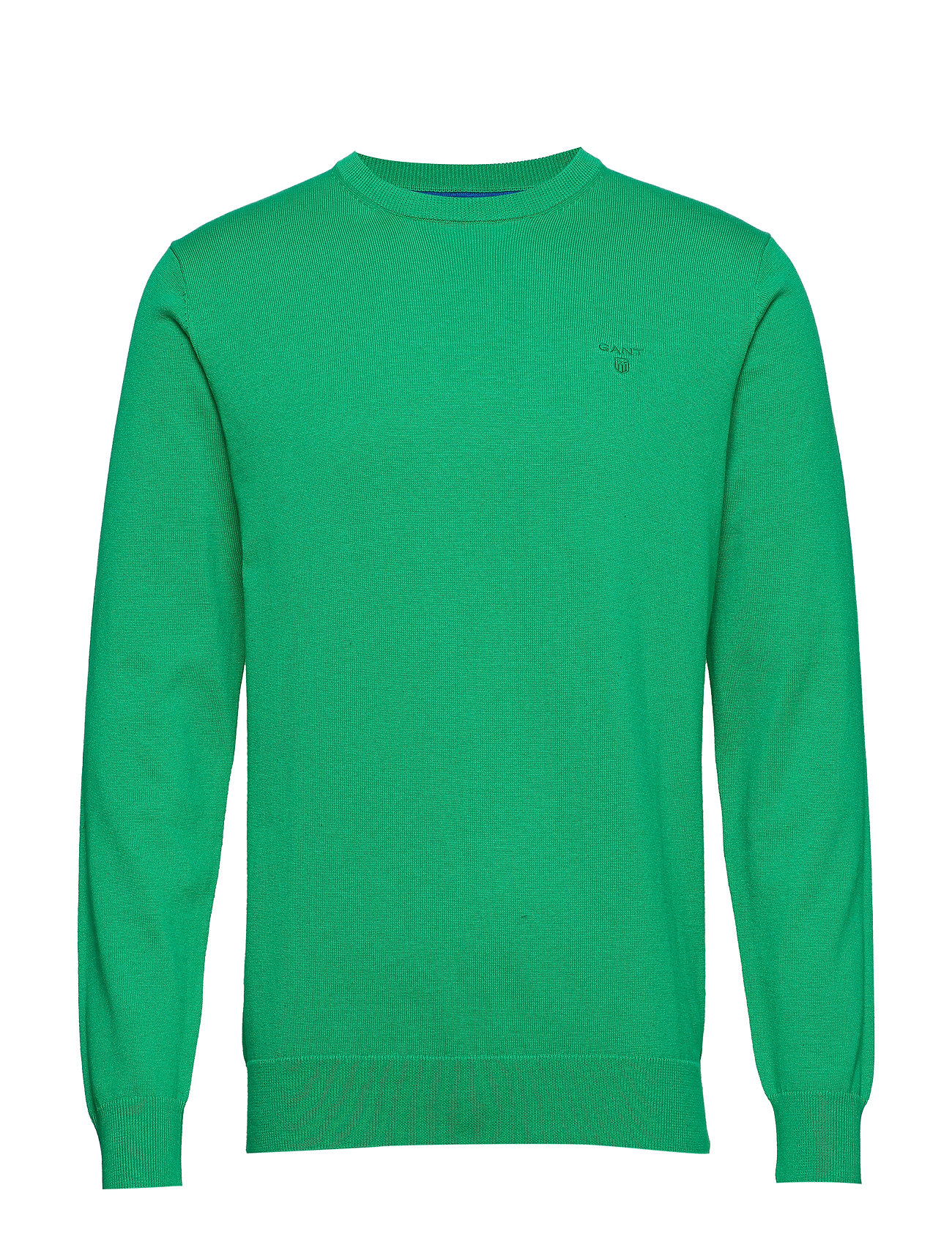 GANT LT. WEIGHT COTTON CREW - GREEN MELANGE