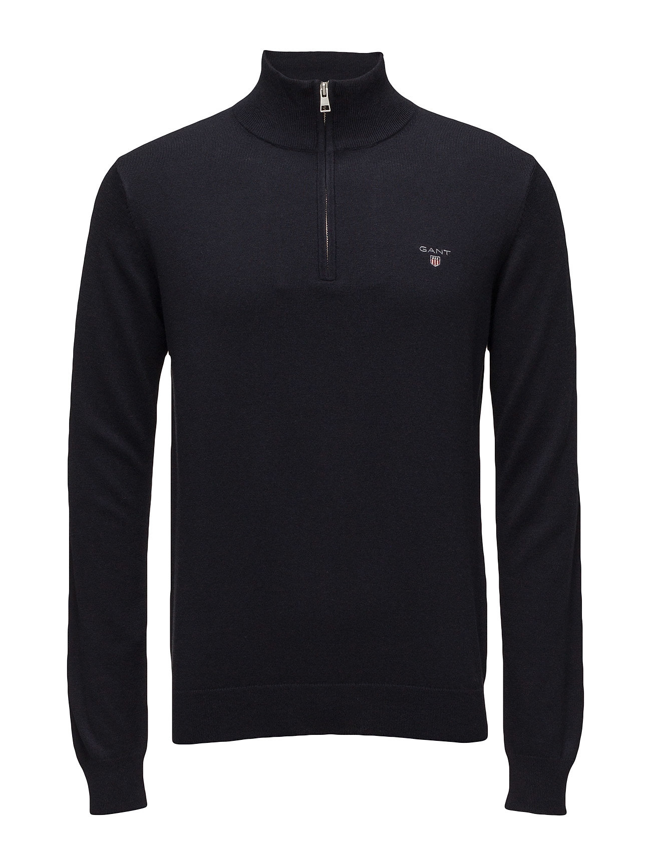 Gant COTTON WOOL HALF ZIP - NAVY