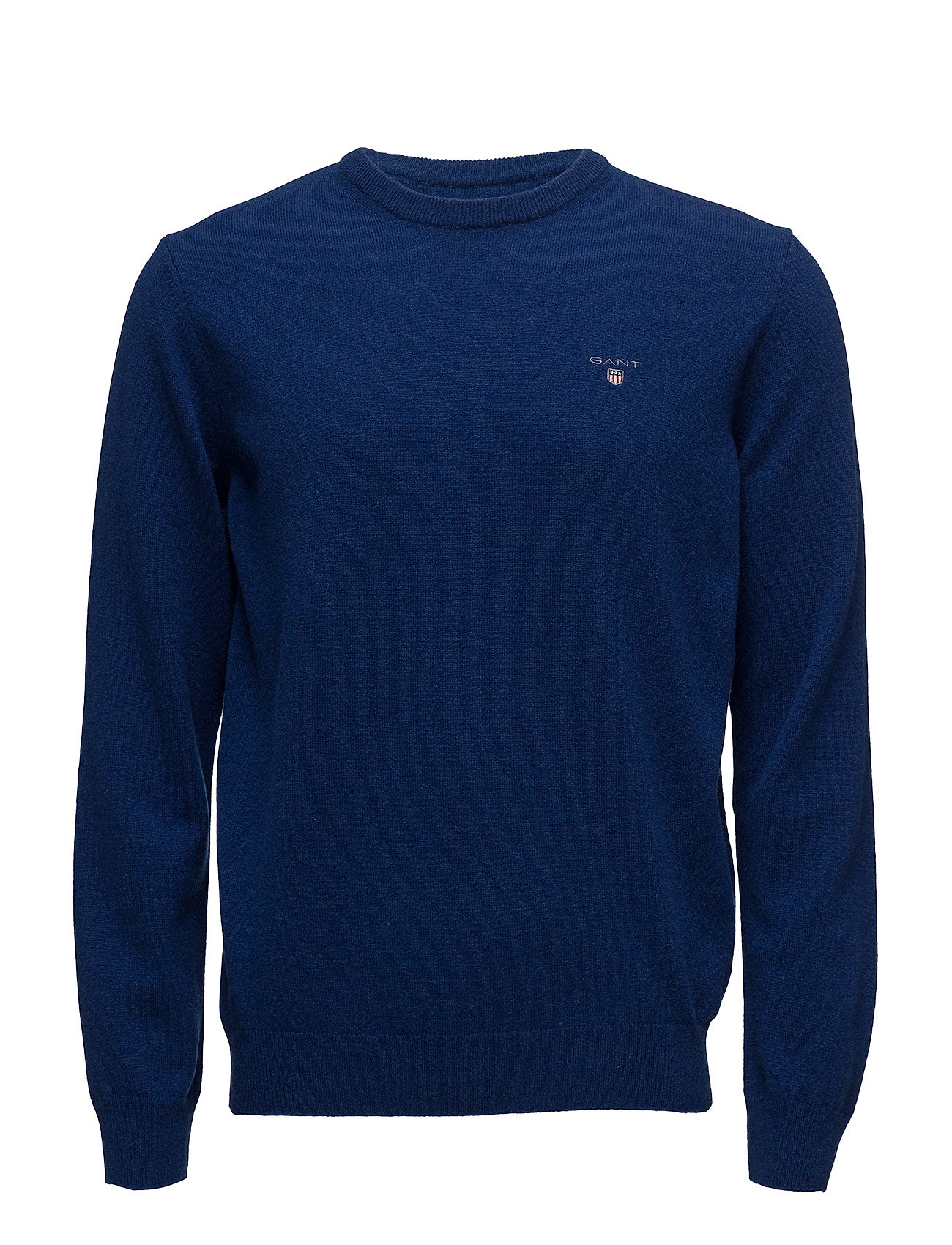 Gant SUPERFINE LAMBSWOOL CREW - YALE BLUE