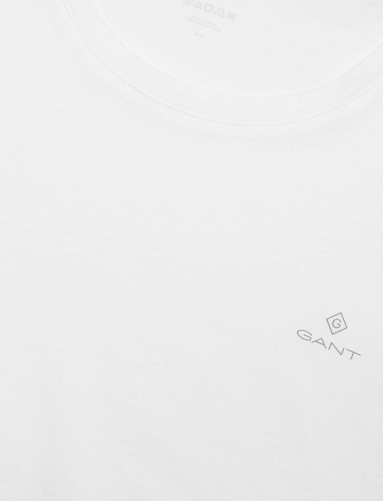 GANT BASIC 2-PACK CREW NECK T-SHIRT - T-skjorter WHITE - Menn Klær