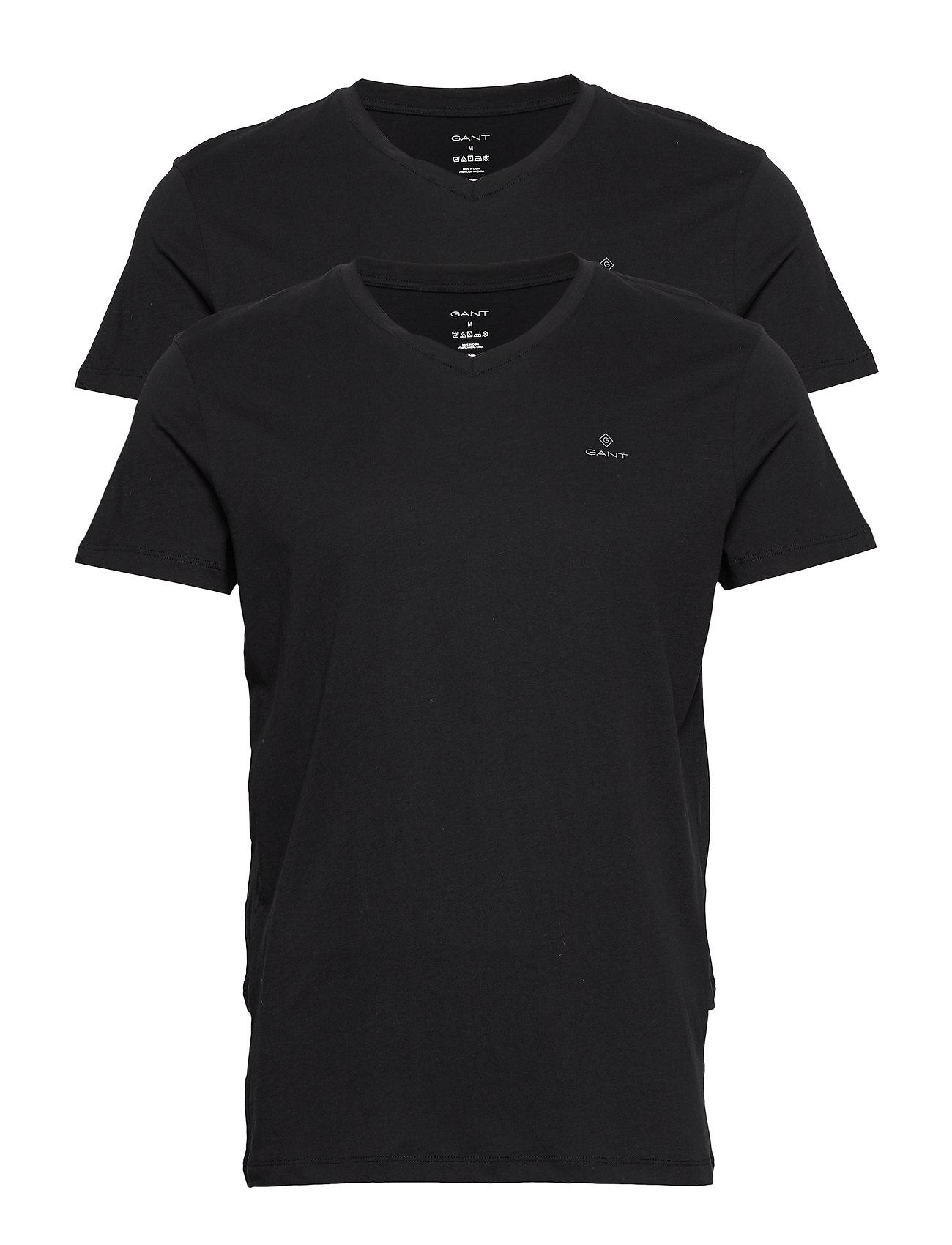 Gant BASIC 2-PACK V-NECK T-SHIRT - BLACK