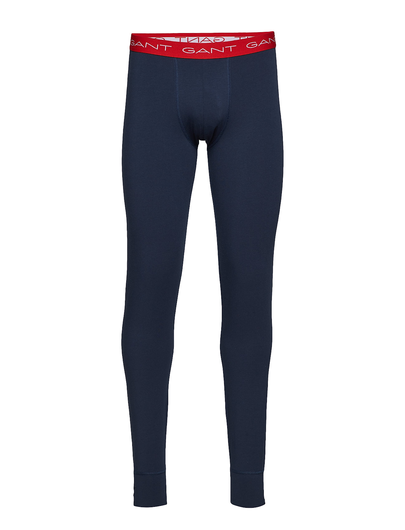 GANT LONG JOHNS SOLID COTTON STRETCH - MARINE