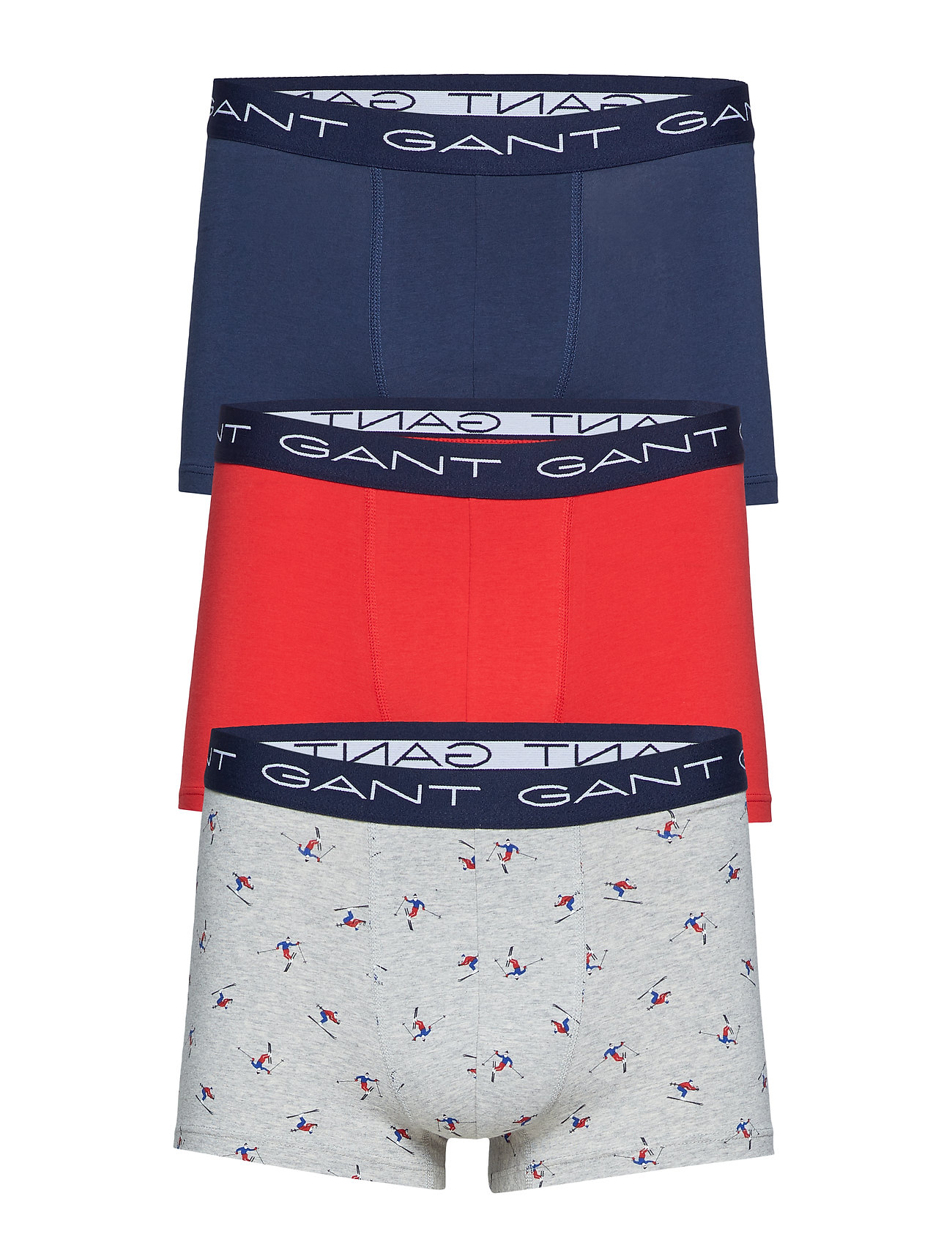 GANT 3-PACK TRUNK SKIER GIFT BOX - GREY MELANGE