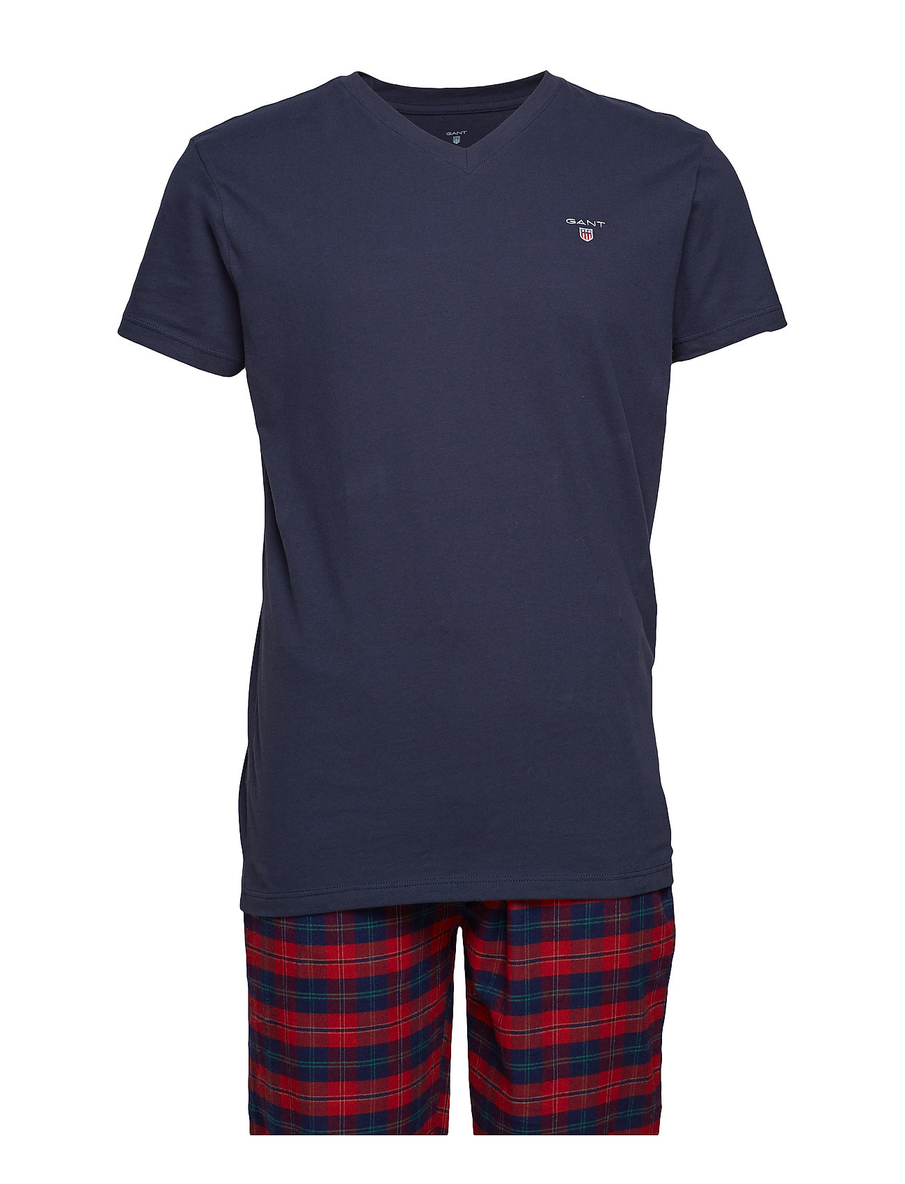 Gant PJ SET FLANNEL PANTS/LOGO T G.BOX - RED