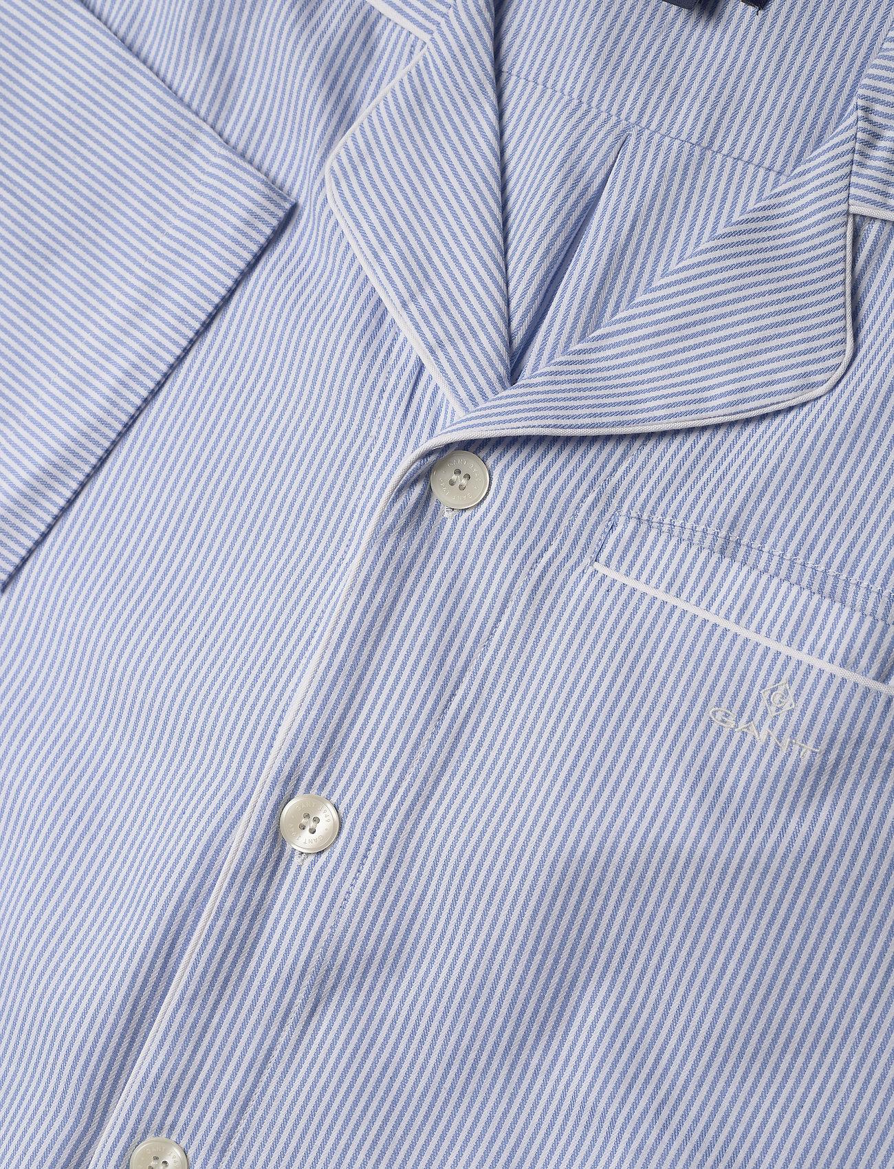 Gant Pajama Set Shirt Classic Stripe - Sov- & Loungeplagg White