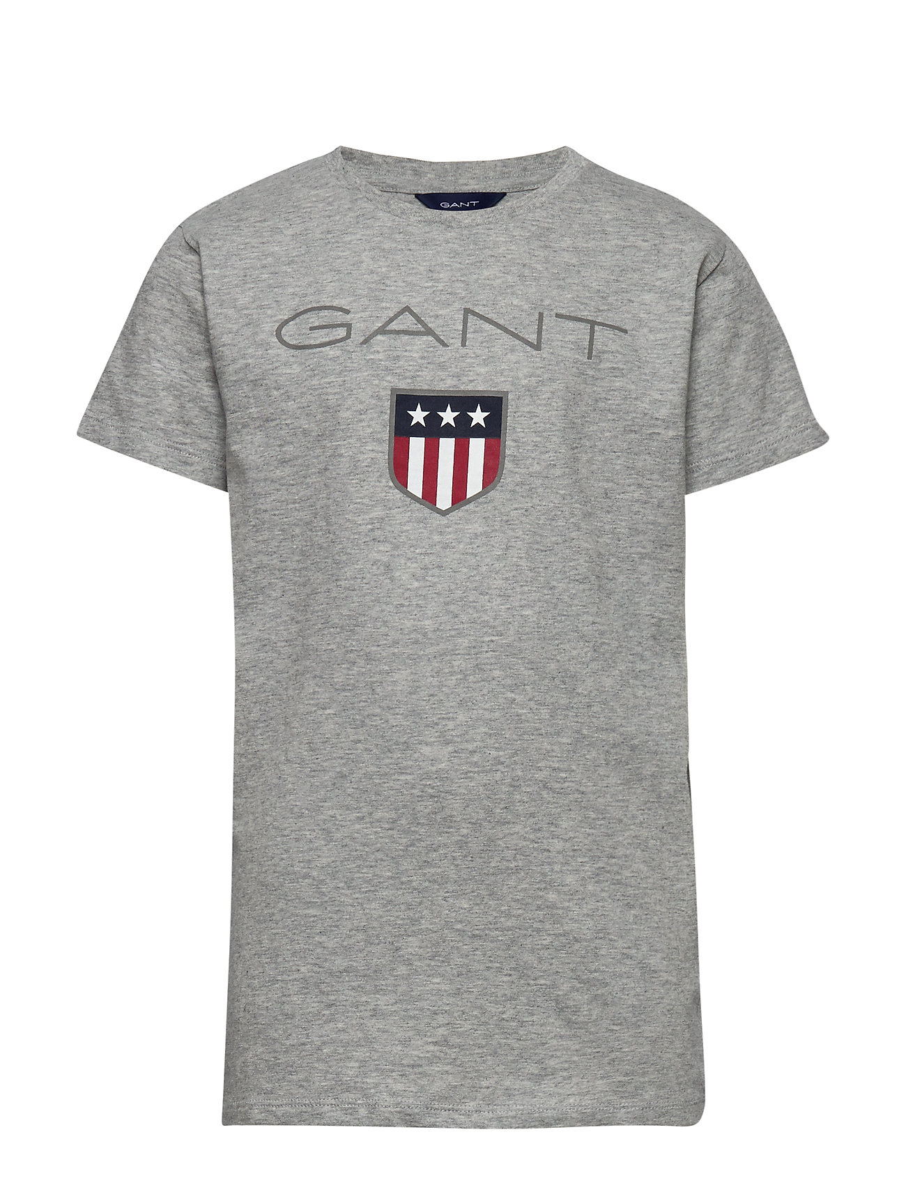 Gant SHIELD SS T-SHIRT - LIGHT GREY MELANGE