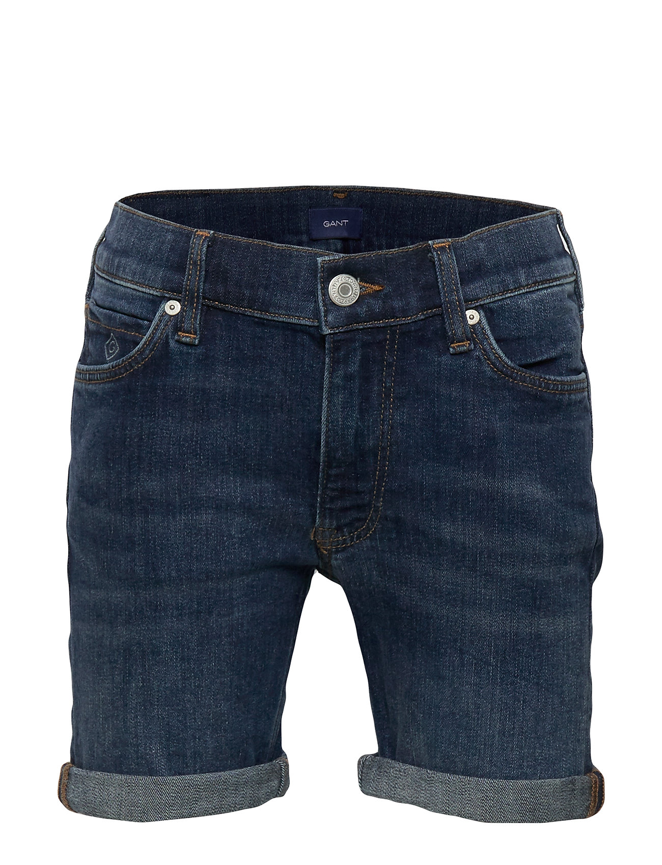 Gant D2. JEANS SHORTS - MID BLUE WORN IN
