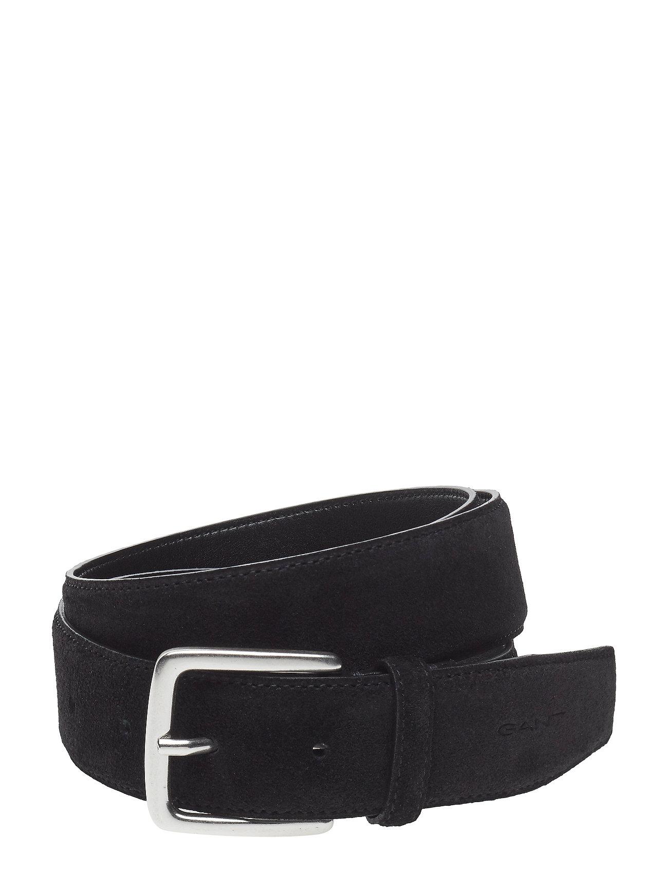 Image of Classic Suede Belt Accessories Belts Classic Belts Sort Gant (3120072541)
