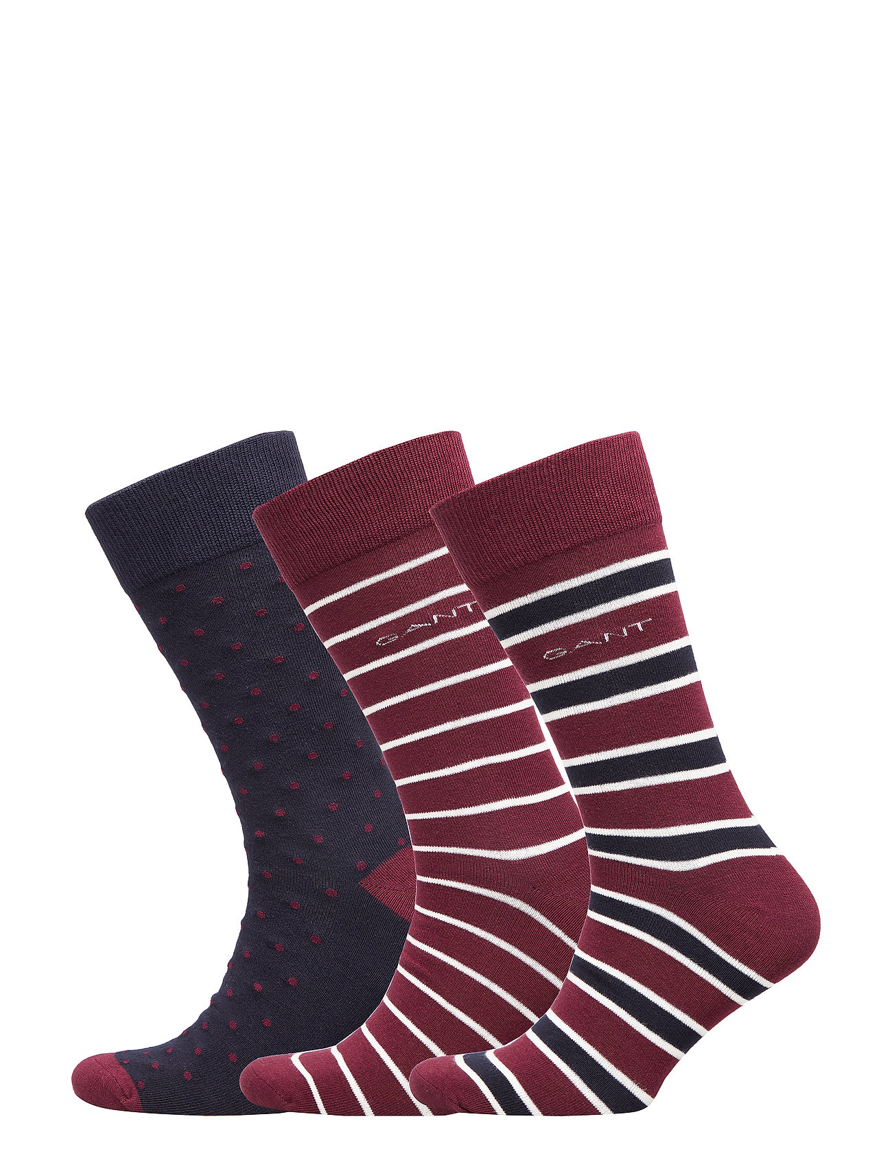 GANT O1. 3-PACK MIXED SOCKS - PORT RED