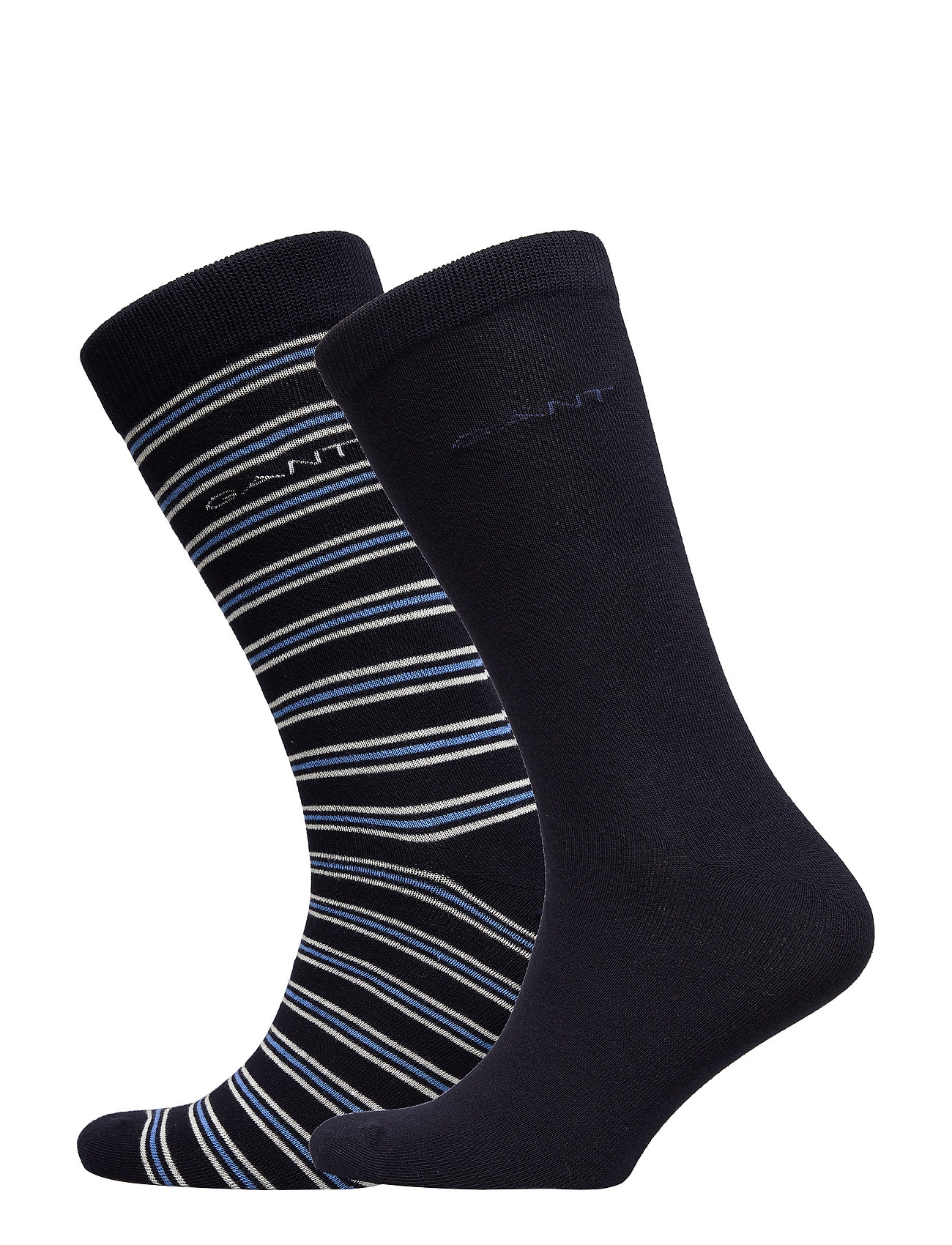 Gant D1. 2 PACK SOLID AND STRIPE SOCK - MARINE