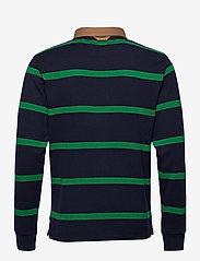 GANT - D1. BRETON STRIPE CONTRAST HR - long-sleeved polos - kelly green - 1