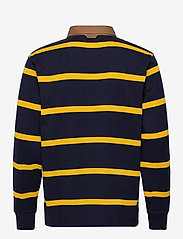 GANT - D1. BRETON STRIPE CONTRAST HR - long-sleeved polos - solar power yellow - 1
