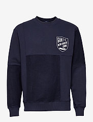 GANT - D2. PATCHED RELAXED C-NECK SWEAT - tops - classic blue - 0