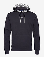 GANT - D1. 13 STRIPES SWEAT HOODIE - basic sweatshirts - evening blue - 0