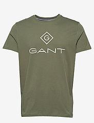 GANT - LOCK UP SS T-SHIRT - short-sleeved t-shirts - four leaf clover - 0