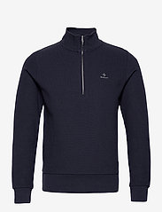 GANT - D2. STRUCTURE HALF ZIP - basic sweatshirts - evening blue - 0