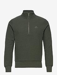 GANT - D2. STRUCTURE HALF ZIP - basic sweatshirts - thyme green - 0