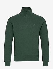 GANT - D2. SACKER RIB HALF ZIP - half zip jumpers - tartan green mel - 0