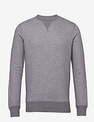 GANT - THE ORIGINAL C-NECK SWEAT - basic-sweatshirts - dark grey melange - 0