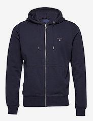 GANT - THE ORIGINAL FULL ZIP HOODIE - hoodies - evening blue - 0