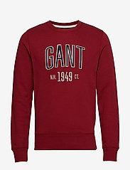 Gant - D1. GRAPHIC C-NECK SWEAT - svetarit - mahogny red - 0