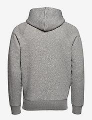 GANT - LOCK UP HOODIE - hoodies - grey melange - 1